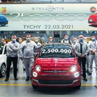 The Stellantis plant in Tychy, Poland celebrates its latest achievement: 2.5 million Fiat 500s produced